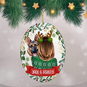 DONL9BAUER Personalized German Shepherd Dog 2020 Christmas Ornaments Dog Owner Hanging Ornament Xmas Tree Decorations Present for Family Friends A Year to Remember