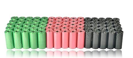 Bolsas para excrementos de perro. 1125 bolsas. Bolsas perfumadas y degradables. 75 rollos de 15 piezas cada uno.