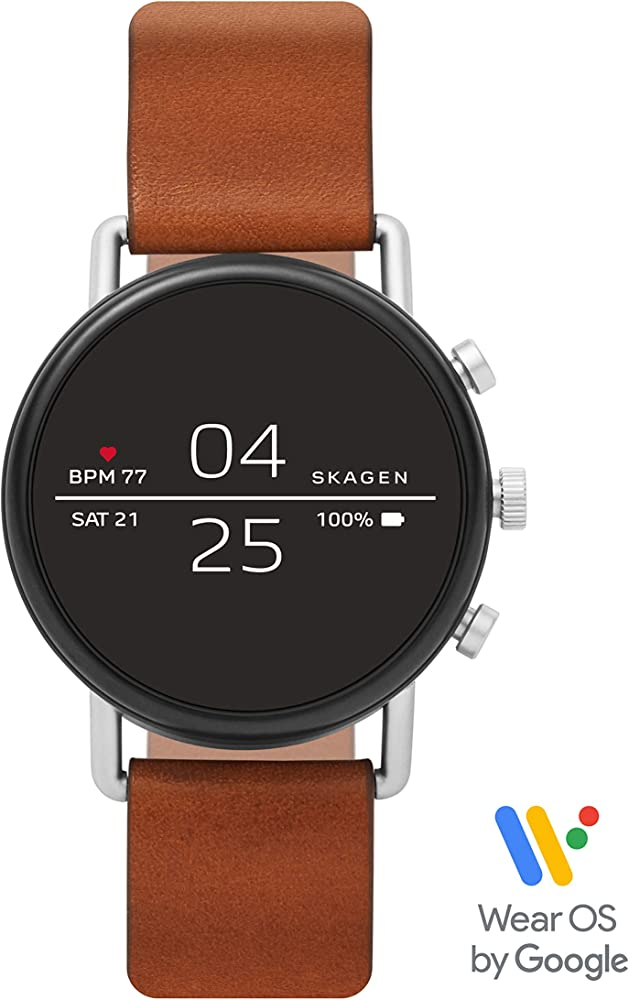 Amazon Com Skagen Connected Falster 2 Stainless Steel And Leather