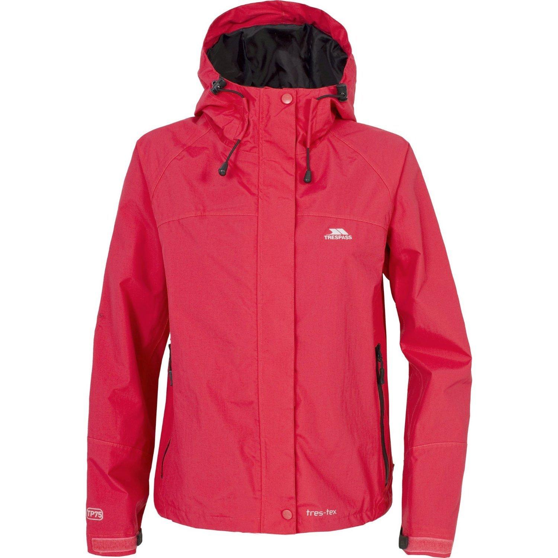 Trespass Womens/Ladies Miyake Waterproof Jacket (14 US) (Hibiscus)
