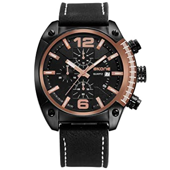Fashion Watches for Men,Analog Quartz Unique Mens Big Face Watch relojes de Hombre