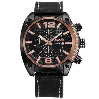 Fashion Watches for Men,Analog Quartz Unique Mens Big Face Watch relojes de Hombre