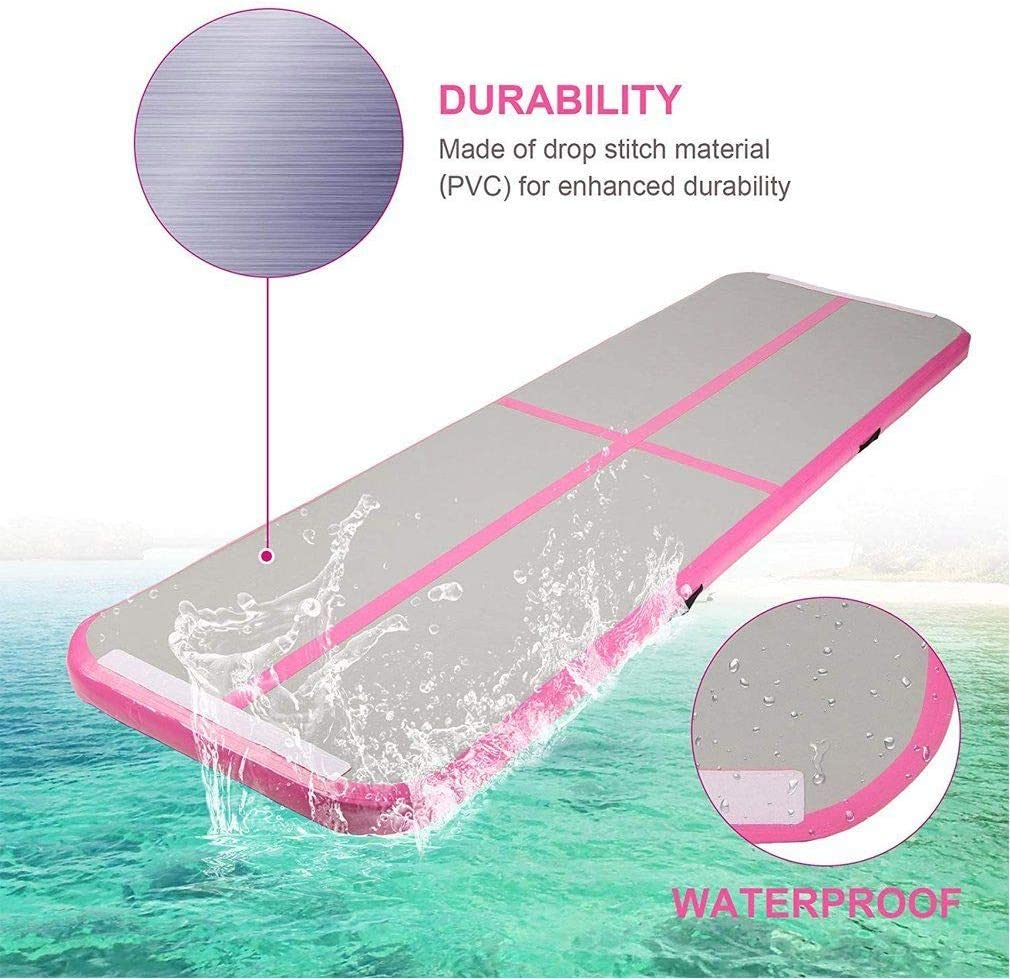 COMOTS Air Track Gymnastic Mat 3M*1M Air Track Tumbling Mat Inflatable Gymnastics Mat with Electric Air Pump For Home Gym Training