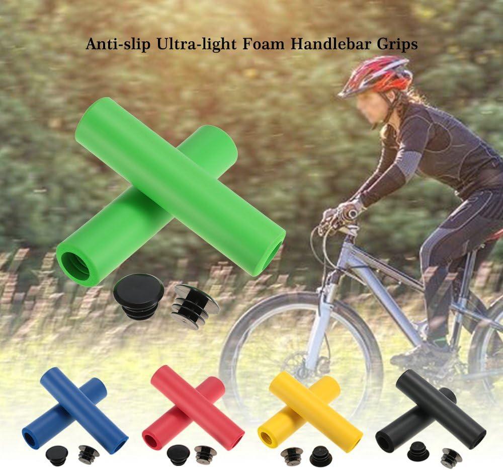 Lixada 1 Par de Puños del Manillar Ultra Ligero Antideslizante de Espuma Acolchada para Bicicleta de Carretera de Ciclismo: Amazon.es: Deportes y aire libre
