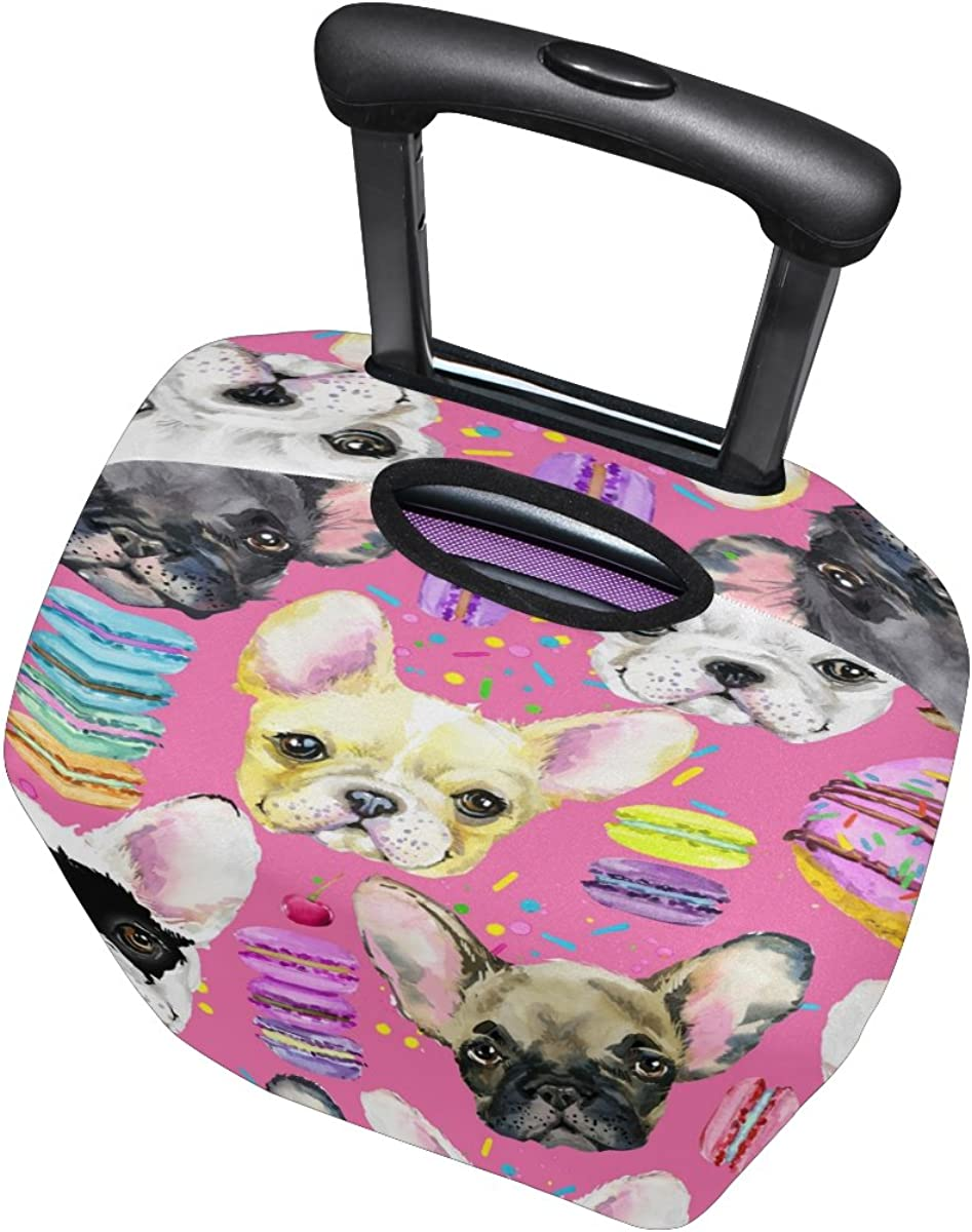ALAZA Pink Puppy Dog Hamburger Luggage Travel Suitcase Cover Case Protector