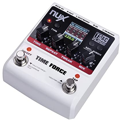 NUX Time Force Stomp Boxes Multi Digital Delay 11 Effects Electric Guitar  Effect Pedals
