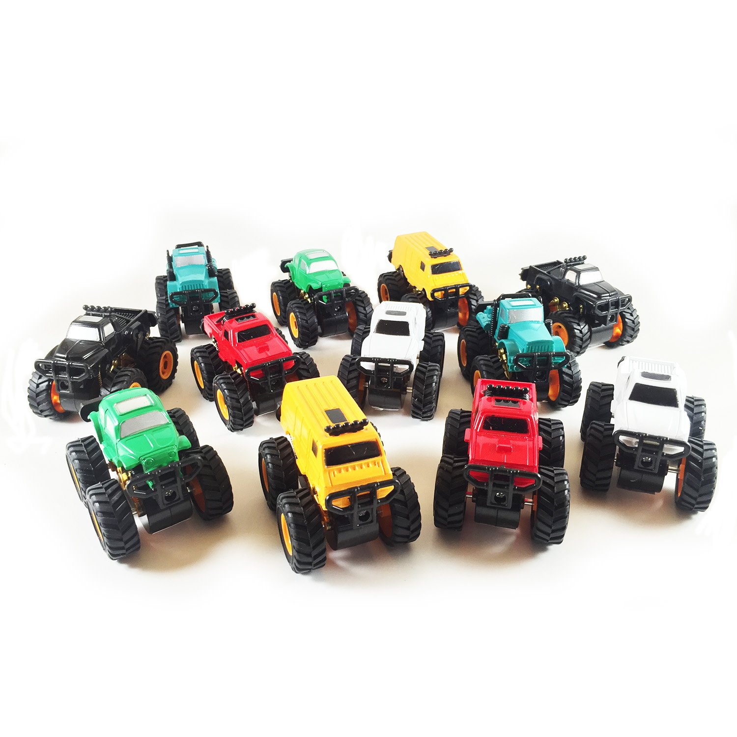 Amazon.com: Boley Monster Pullback Trucks Mini 12 pack - Friction ...