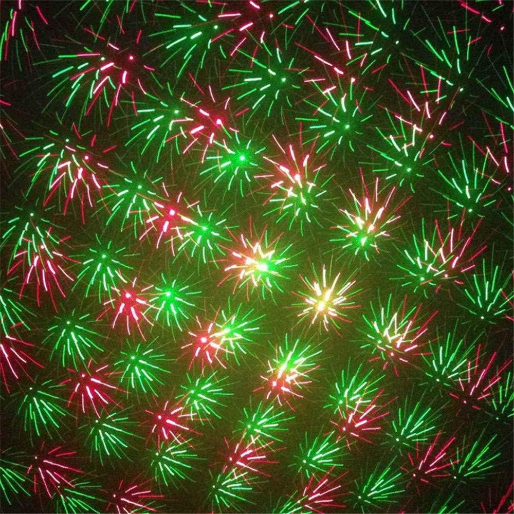 Mini B/ühne Lichteffekt Projektor Outdoor Weihnachten F/ür Party Strobe Lights DJ Club Bar Pub Hochzeit TASGK Weihnachten Projektor Licht