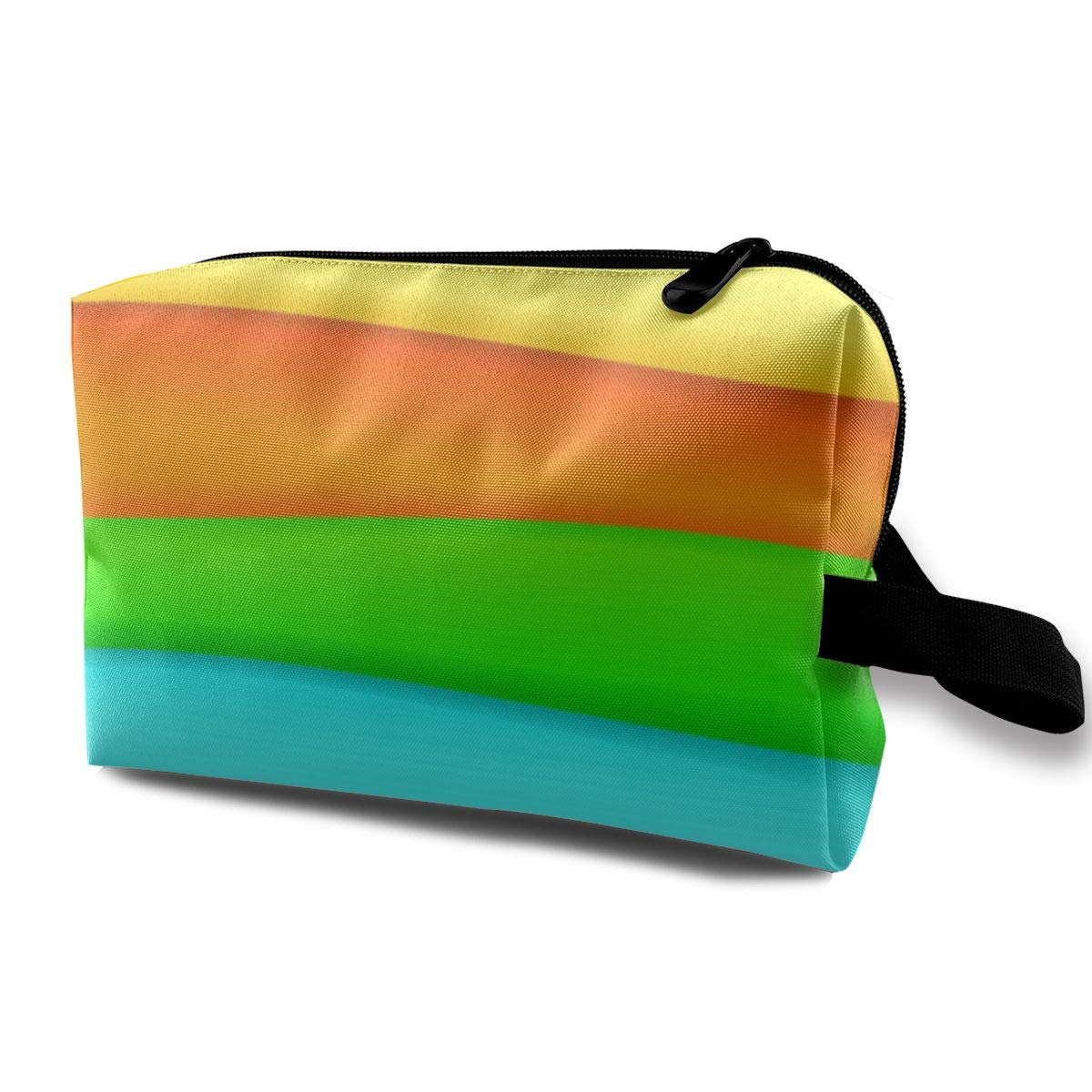 Love beautiful Makeup Bag Rainbow Stripes 1 Handy Travel Multifunction Cosmetic Bags Fantastic Organizer for Women