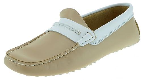 B.C. Woman - Mocasines de Piel para mujer Beige arena, color Beige, talla 37: Amazon.es: Zapatos y complementos