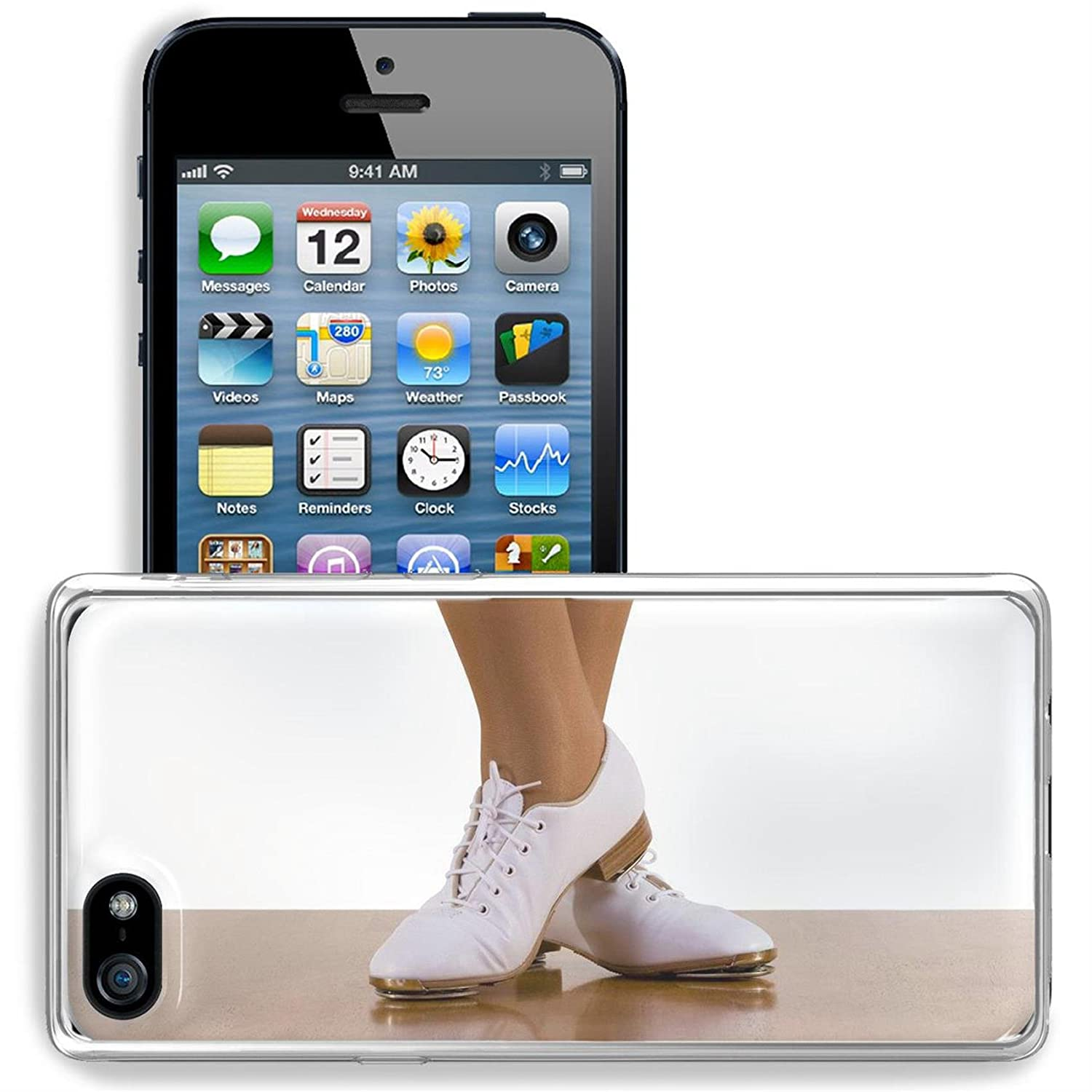c906ec44 Luxlady Apple iPhone 5/5S Clear case Soft TPU Rubber Silicone Bumper Snap  Cases iPhone5/5S IMAGE ID 2480929 Tap top Clog dancer in clogging shoes on  white