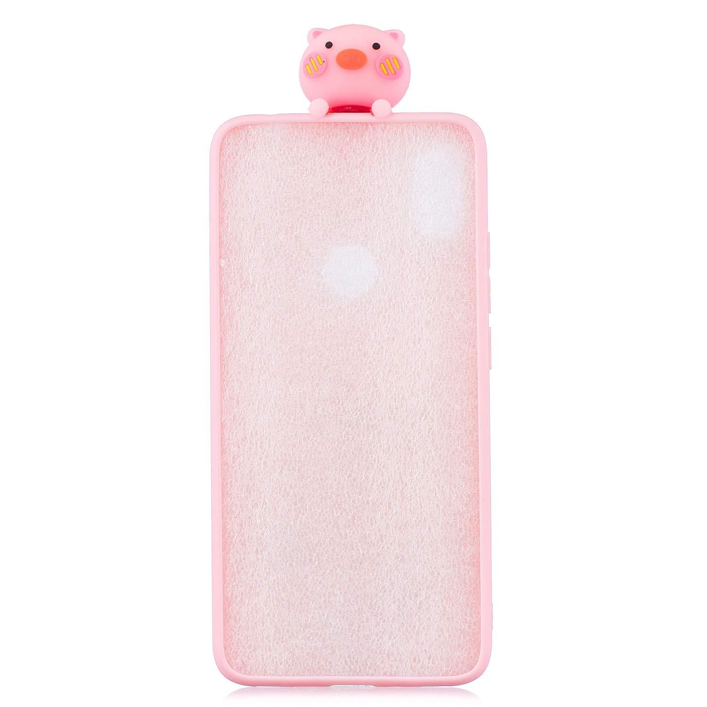 Charmant Animal Cochon Rose Motif Souple Silicone Arri/ère /Étui,Ultra Mince Flexible TPU Pare-Chocs Housse Artfeel Mignonne 3D Dessin anim/é Coque pour Xiaomi Redmi 5 Plus