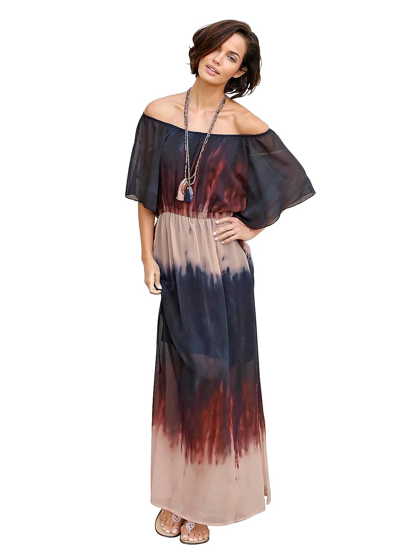9a30fecd0ea4 Damen Kleid aus leicht transparenter Webware und in Batik-Optik by AMY  VERMONT jetzt kaufen