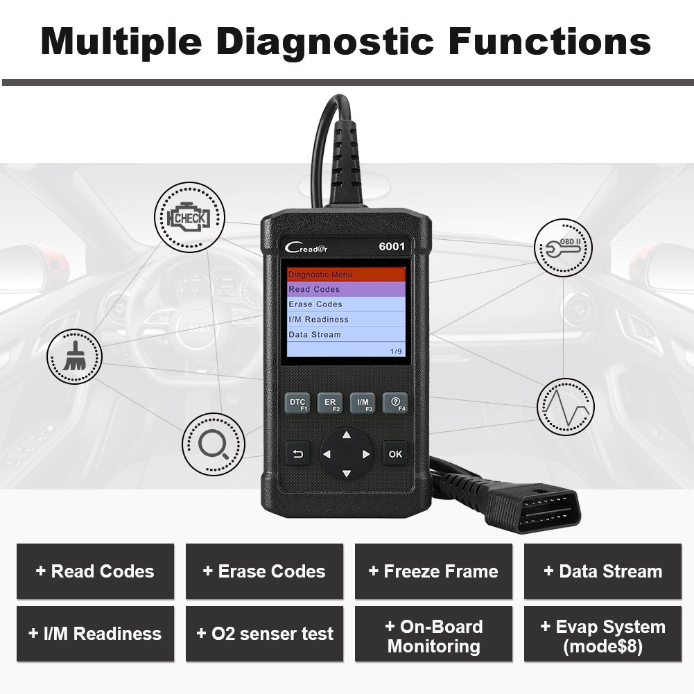 Launch Scan Tool The 7 Best Choices Review 2018 Obd Advisor Obd2 Wiring Diagram Creader 6001 Is A Full Obdii