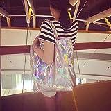 687e5eed0b Ofila Holographic PU Tote Handbag Large Hologram Shopper Laser Shoulder Bag  for Women