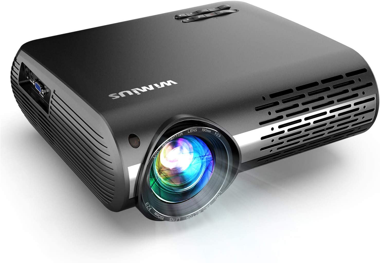 Smartphones for Home Theater Projector PS3 Compatible with TV Stick HDMI VGA WiMiUS 3500 Lumens Video Projector Support 200 Display Full HD 1080P 50,000 Hours LED Video Projector USB