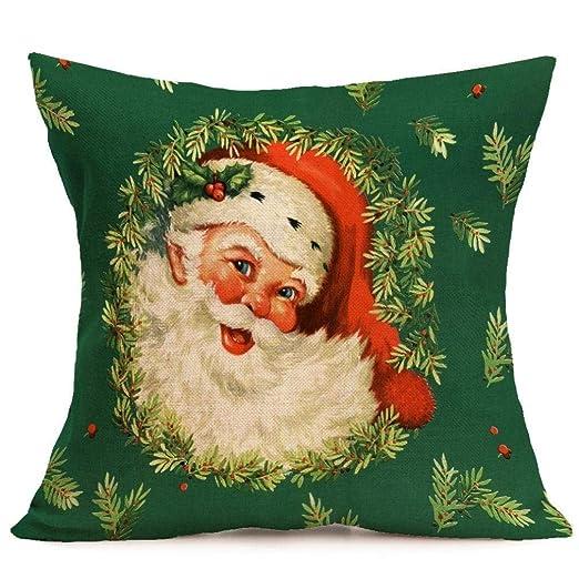 Hats New Funda de cojín con diseño de Feliz Navidad Merry ...
