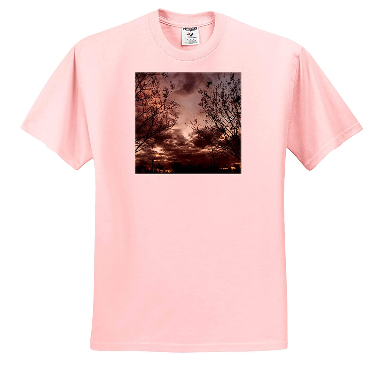 Stormy Weather Photography - T-Shirts 3dRose BlakCircleGirl Photograph of Another Beautiful Sky