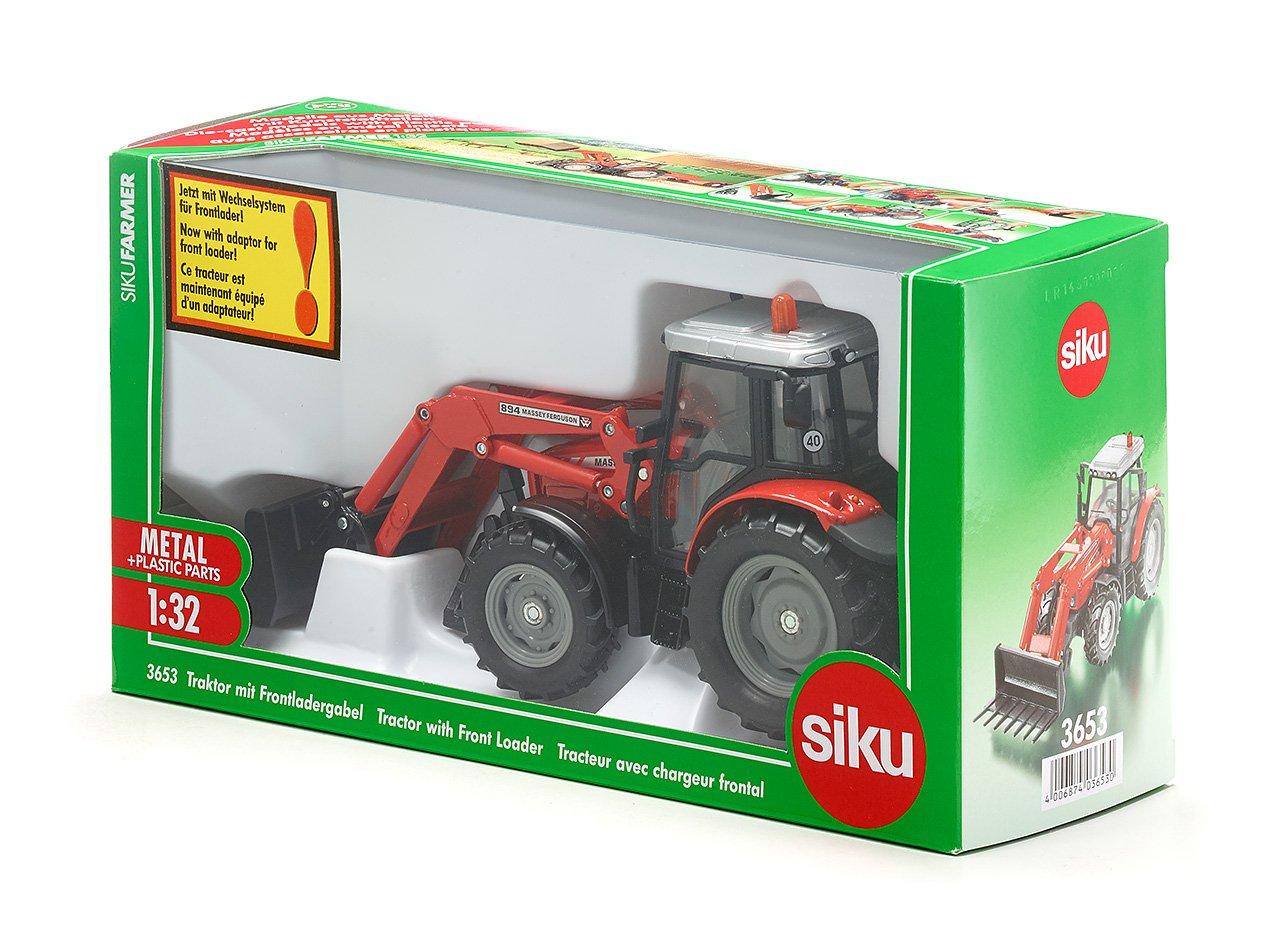 SIKU 3653 - Tractor con cargador frontal (colores surtidos) [Importado de Alemania]: Amazon.es: Juguetes y juegos