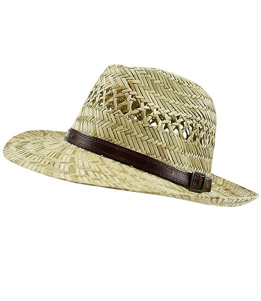 EveryHead Fiebig Cappello Panama Uomo Paglietta Di Estate Spiaggia Da  Vacanza Dell Isola Con Nastro 6cd029485c21