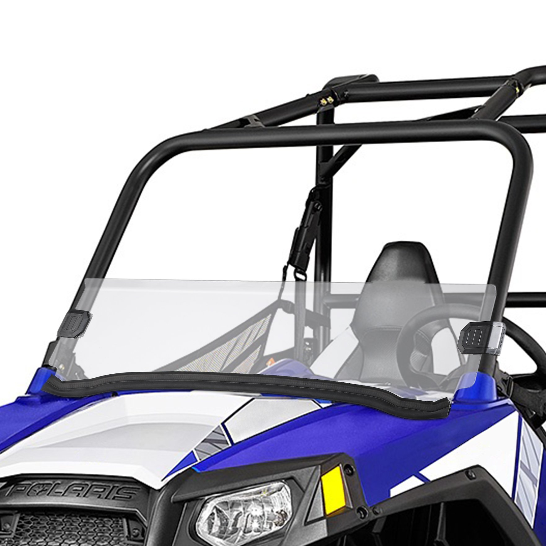 Polaris Razor UTV Half Windshield for 09-14 RZR S 800, 10-14 RZR 4 800, 11-14 RZR XP 900, 12-18 RZR 570, 12-14 RZR XP 4 900