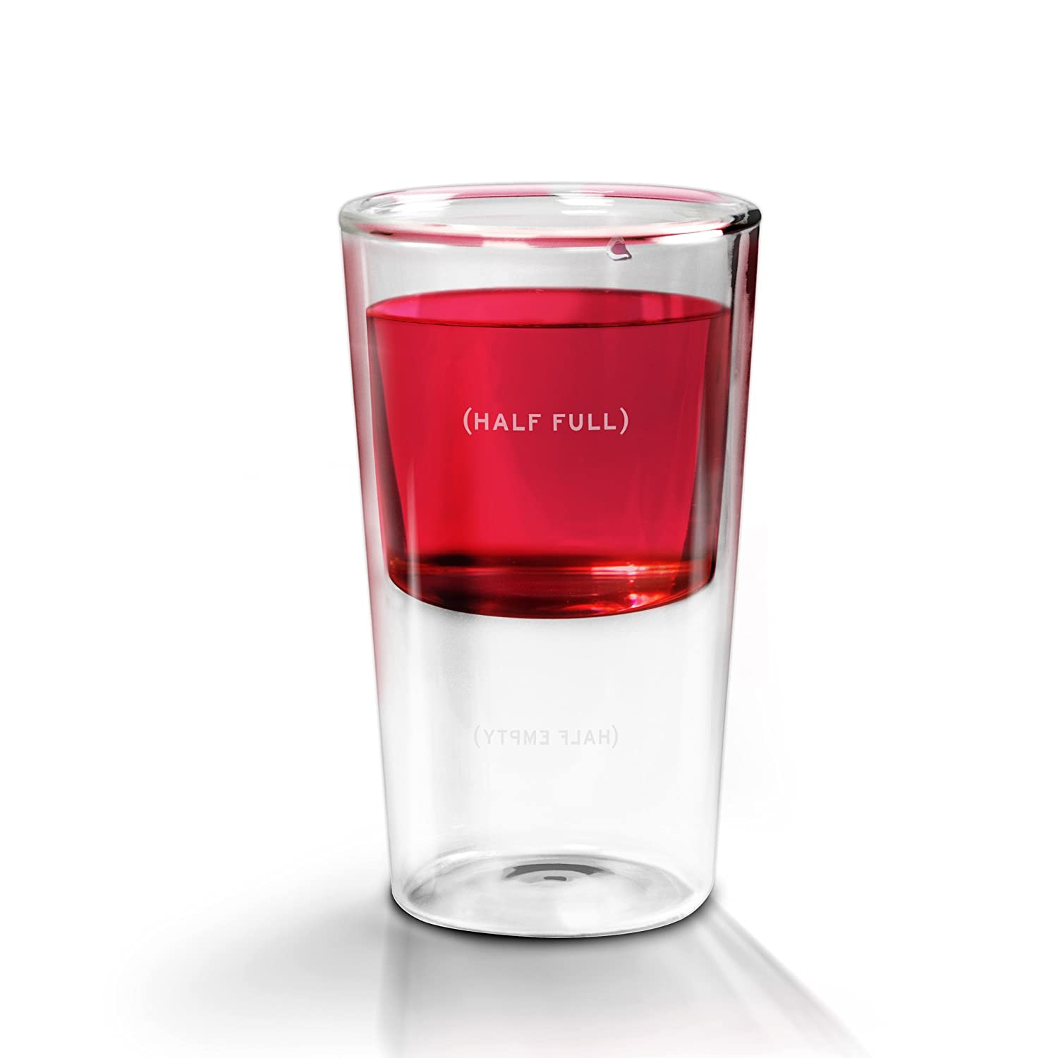 is the glass half full The effect of glass elongation on poured volume was the opposite  citation:  caljouw sr, van wijck r (2014) is the glass half full or half.