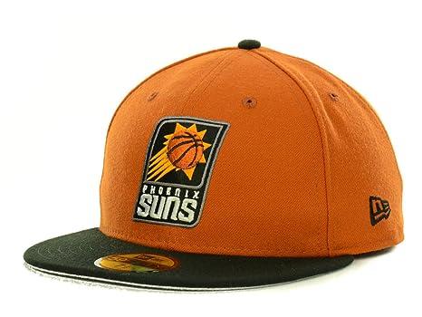 27b57a4723dc84 Amazon.com : Phoenix Suns NBA New Era 59Fifty Fitted Orange/Black ...