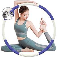 BLAIKOYI Hula hoepel voor volwassenen, slanke gewogen hoelahoep om af te vallen, voor fitness, thuis, sport, 8 knopen…