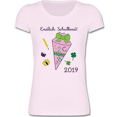 Shirtracer Einschulung Endlich Schulkind 2019 Mädchen Mädchen T