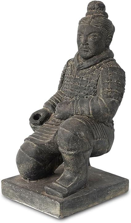 sharprepublic Chine Terra Cotta Warriors Arm/ée Guerriers en Terre Cuite Figurine D/écoration de Table de Maison//Bureau//Magasin//Jardin Noir 8cm