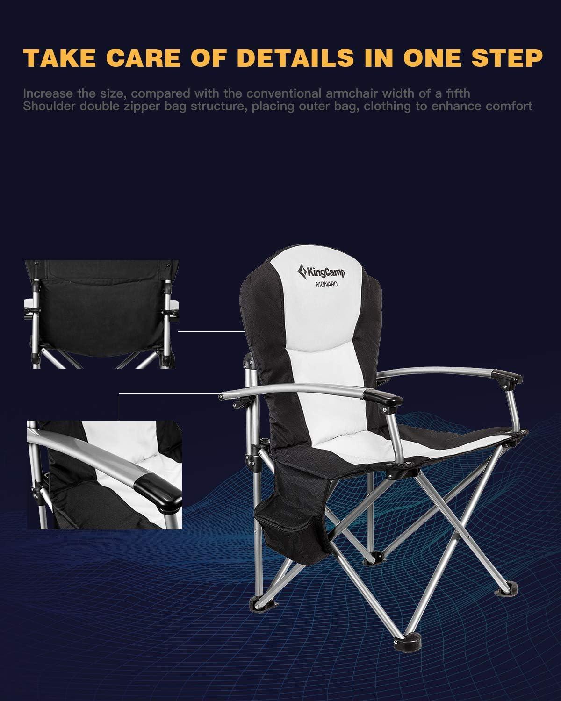 KingCamp Mini Pliante Tabouret lutter Tabouret Camping Angel Siège Acier 650 G Facile 150 kg