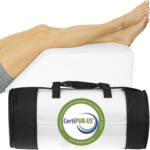 Memory Foam Leg Elevation Wedge Elevator Pillow Improve Circulation Back Pain