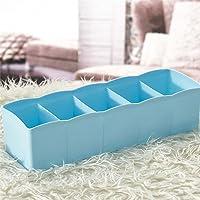 INOVERA (LABEL) Underwear Innerwear Socks Storage Drawer Organiser Set of 4, 26.5L x 8B x 6.5H cm, Assorted Colour