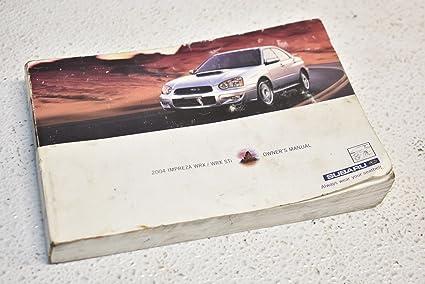 Amazon com: Subaru 2005 WRX Owners Manual Owner Booklet 05