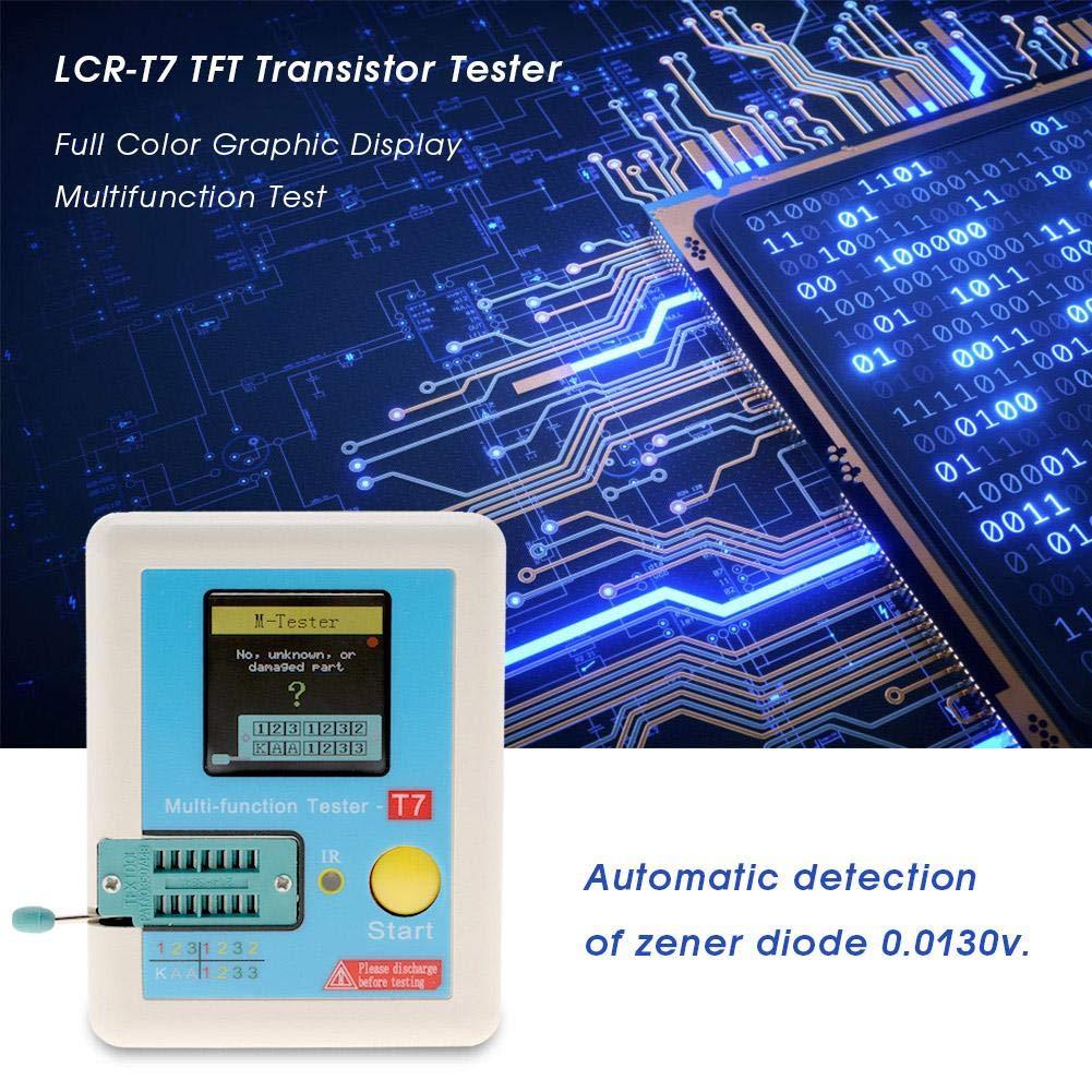 Transistor Tester LCR-T7 TFT Transistor Tester Full Color Graphic Display Multifunction