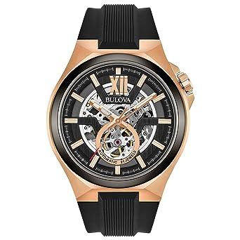 b6264568768 Amazon.com  Bulova Men s Stainless Steel Automatic-self-Wind Watch ...
