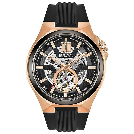 Amazon.com: Bulova 98A177 - Reloj automático de acero ...