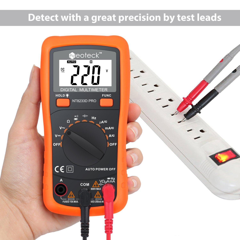 Neoteck Auto Ranging Digital Multimeter Ac Dc Voltage Current Top Popular Voltmeter Ammeter Circuit Tester With Resistance Multi Testers Ohmmeter Ampere Meters Backlit Lcd For School