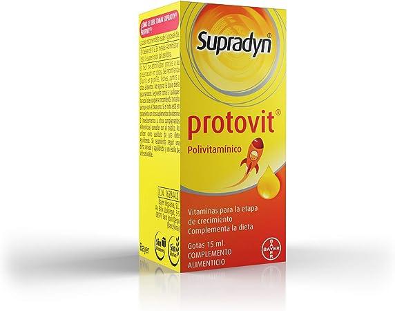 Supradyn Protovit Vitaminas y Minerales en Gotas para Niños Mayores de 3 Años, 9 Vitaminas para el Correcto Crecimiento y Desarrollo en la Edad ...