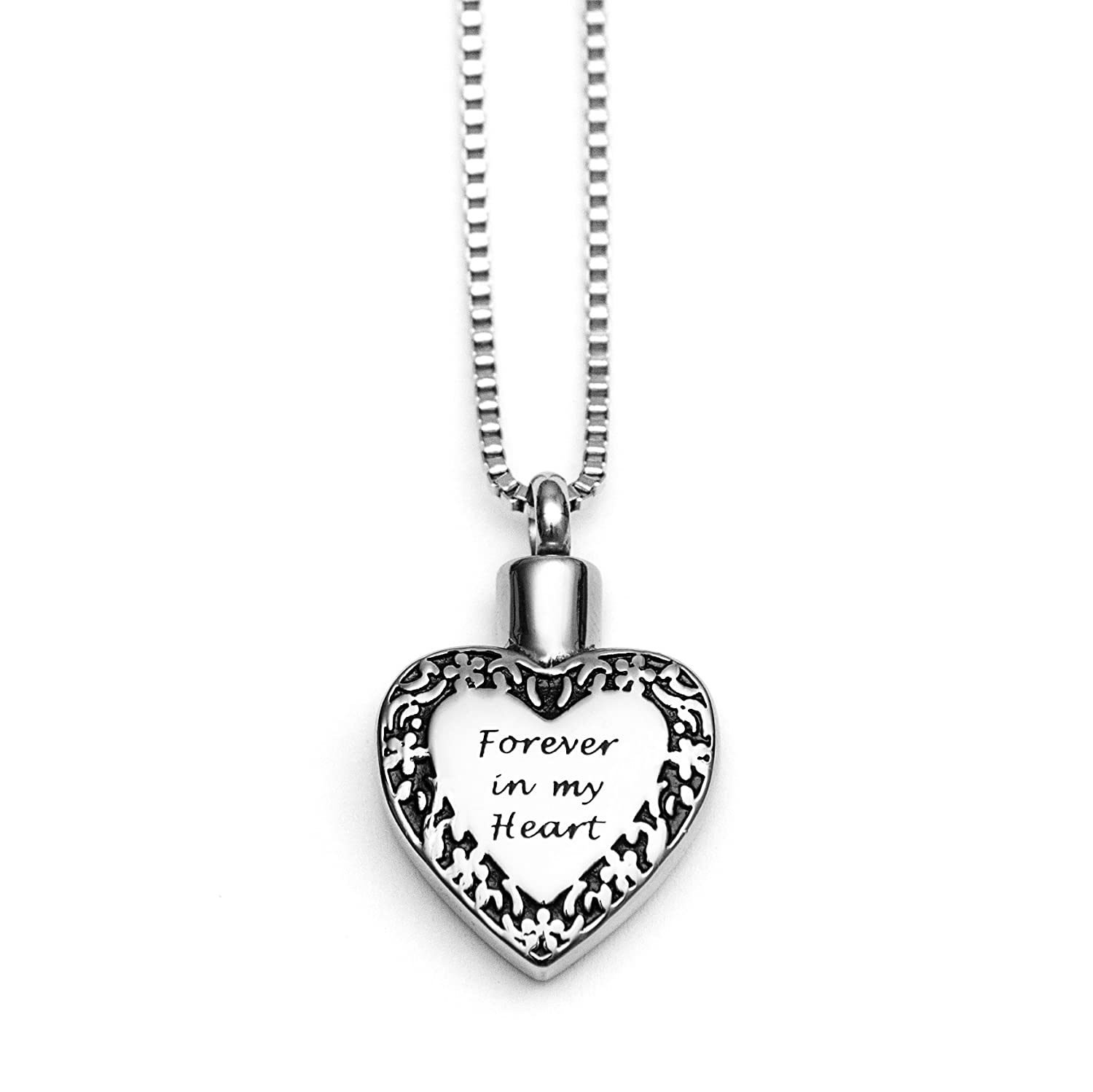 urn my memorial heart necklace in mom ash itm pendant new cremation jewelry forever