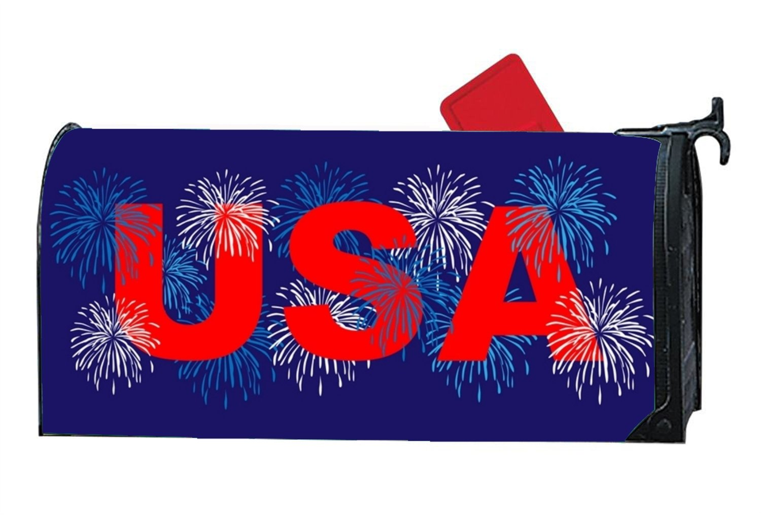 XW-FGF Usa With Fireworks Magnetic mailbox cover Home Magnetic