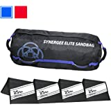 iheartsynergee Adjustable Fitness Sandbag with Filler Bags 10-40lbs and 25-100lbs Heavy Duty Weight Bag
