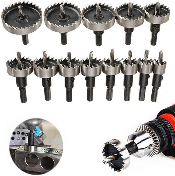 205 Piece Drill Bit Set HSS Masonry Metal Wood Flat Pozi Bits Hole Cutter /& Case