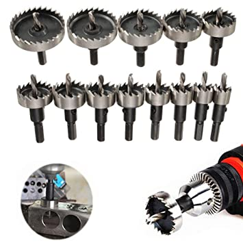 16mm-53mm Hole Saw Holesaw Drill Tooth Kit Cutter Tool For Metal Wood Alloy UK