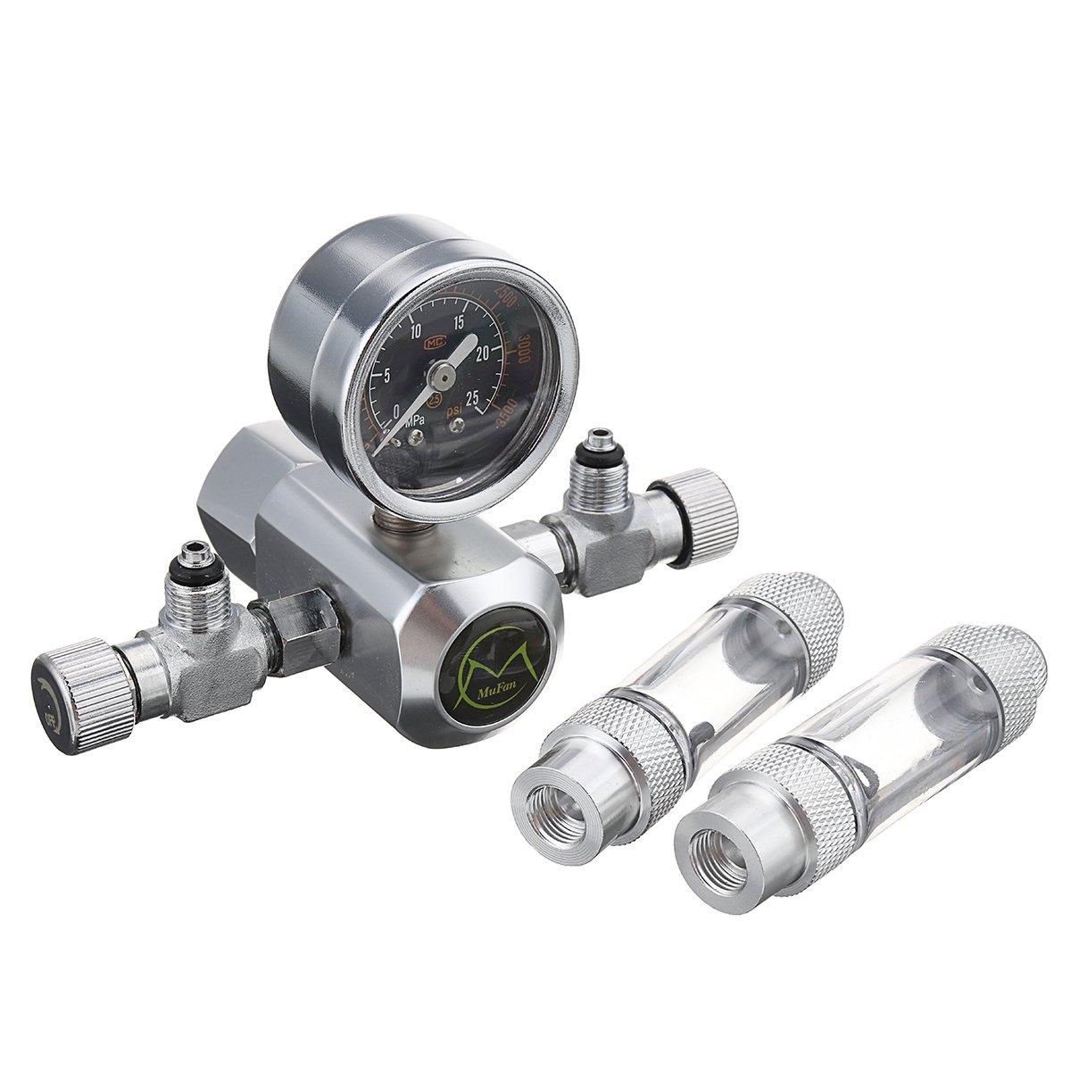 Sconosciuto 220 V G5 8 Aquarium Dual Bubble Sistema CO2 manometro regolatore di Pressione impianto