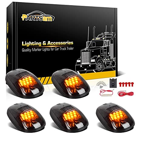 amazon com partsam 5x amber 12 led smoke cab roof running top rh amazon com