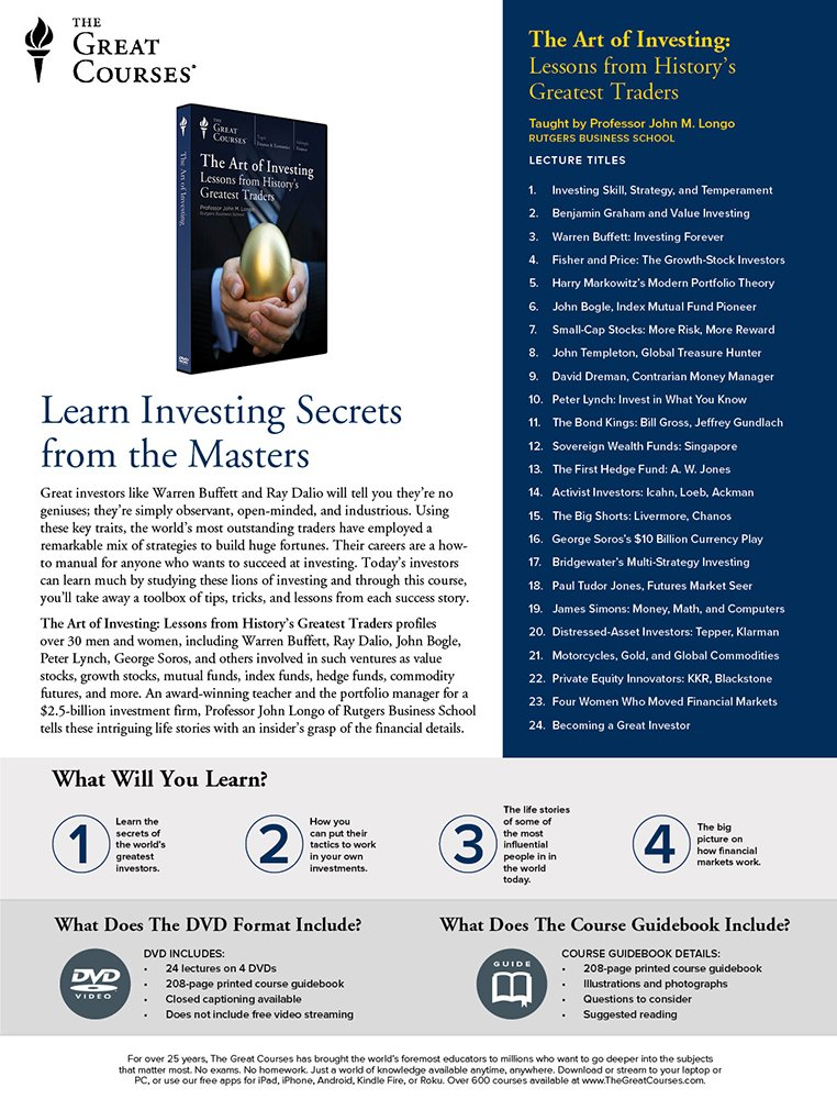 Amazon com: The Art of Investing: Lessons from History's