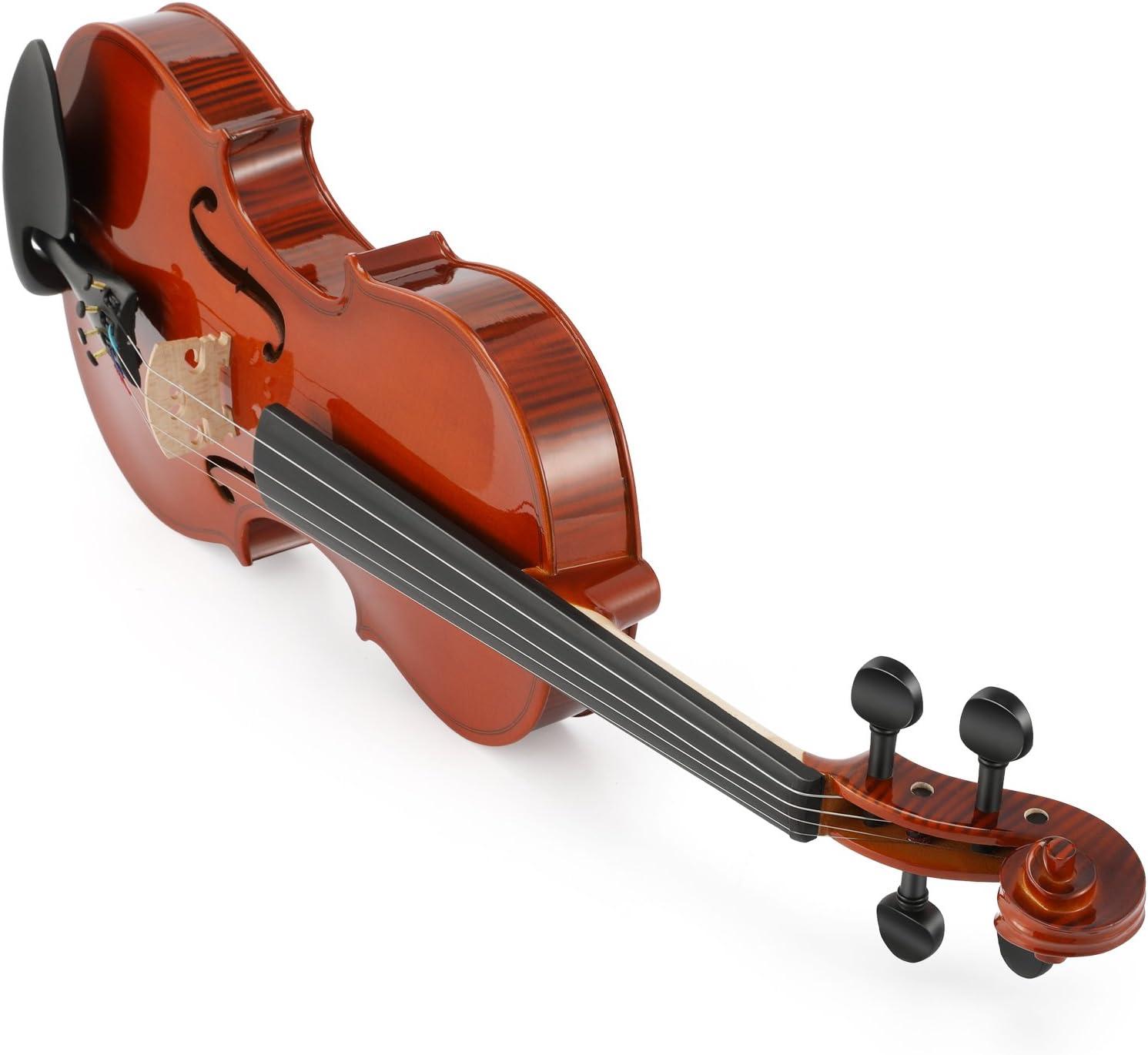 Eastar 1/2 Violín Natural EVA-1 con Estuche Rígido, Resto del Hombro, Arco, Resina, Sintonizador de Clip y Cuerdas Extra para Principiantes: Amazon.es: Instrumentos musicales