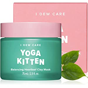 I DEW CARE Yoga Kitten | Balancing Heartleaf Clay Face Mask | Korean Skincare, Facial Treatment, Vegan, Cruelty-free, Paraben-free