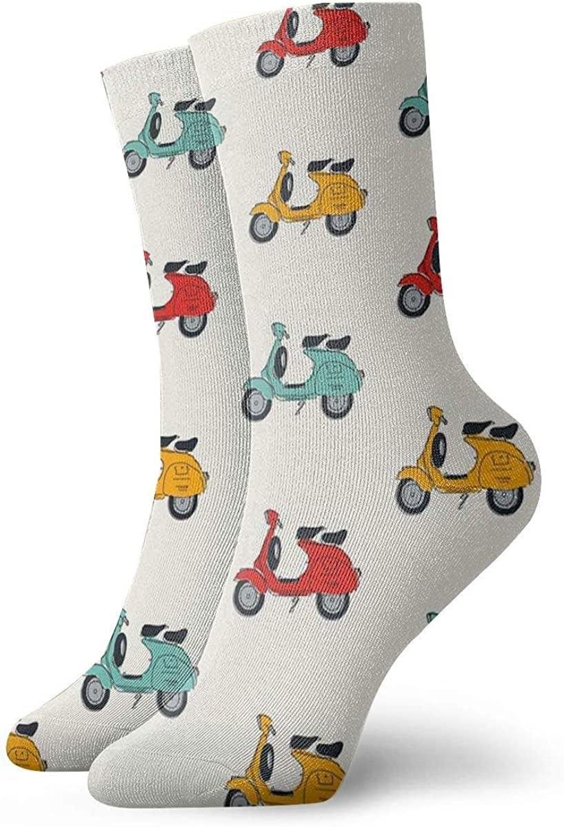 QMS CONTRACTING LIMITED Retro Vespa Personalized Socks Sport Athletic Stockings 30CM Sock For Men Women
